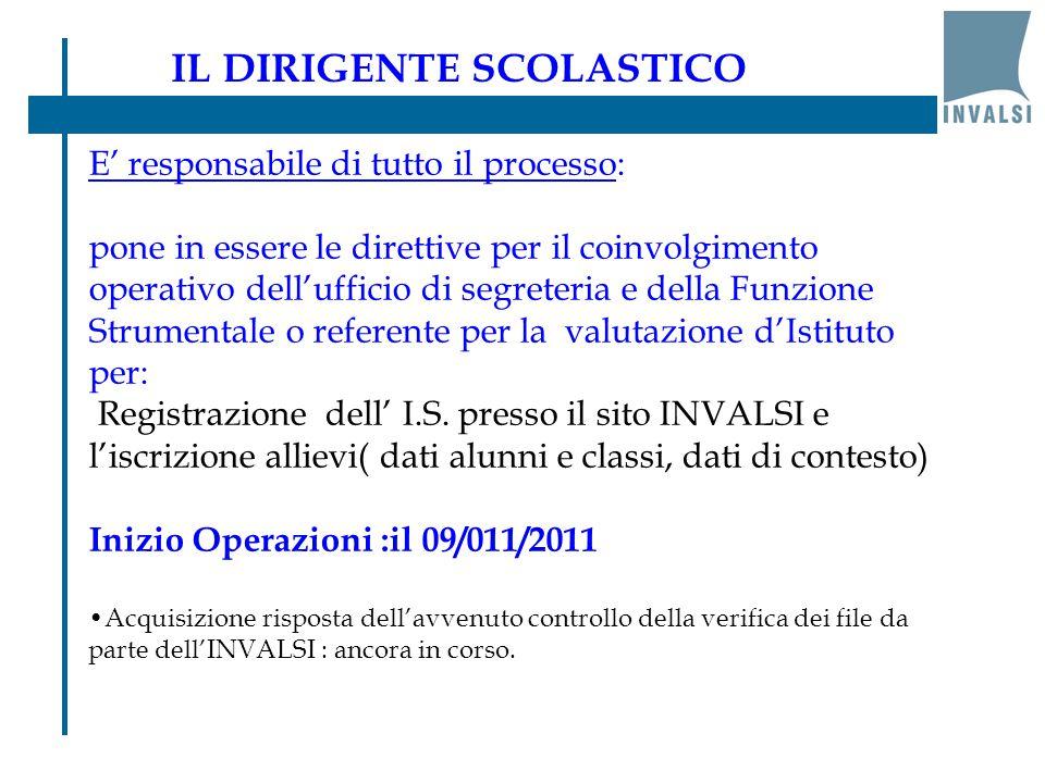 Controlla sul sito dell'INVALSI a partire dal 16/04/2012 e fino al 8/05/2012 se nell' I.