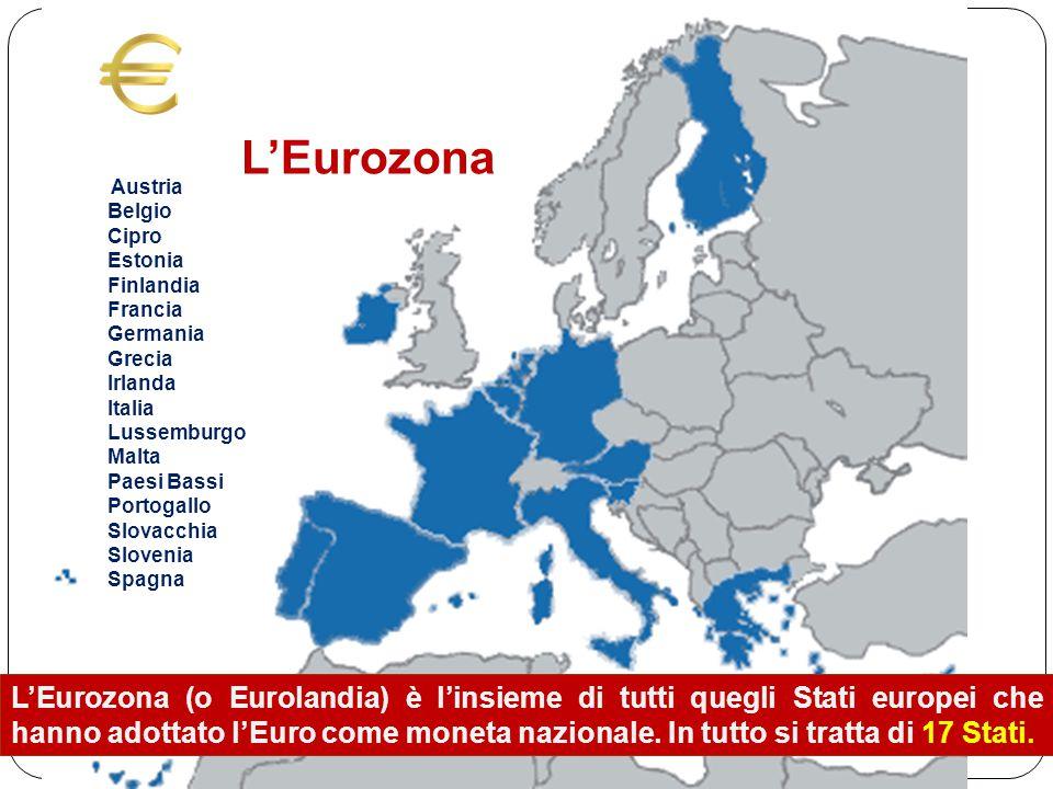 L'Eurozona (o Eurolandia) è l'insieme di tutti quegli Stati europei che hanno adottato l'Euro come moneta nazionale.