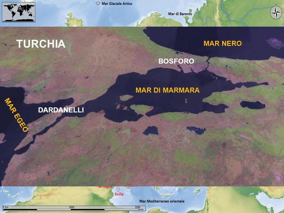 Lago d'Aral BOSFORO DARDANELLI MAR NERO MAR DI MARMARA MAR EGEO TURCHIA