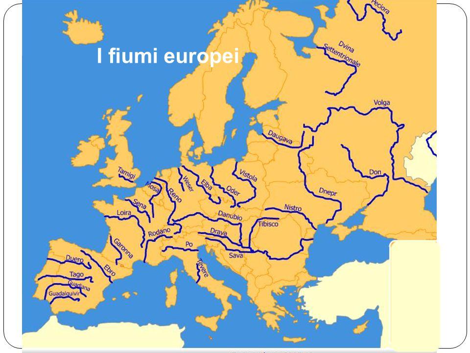 Mappa Fiumi Europa