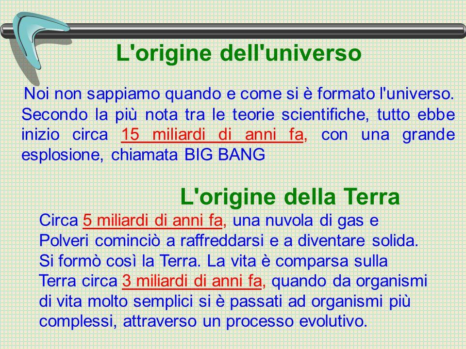 L origine dell universo Noi non sappiamo quando e come si è formato l universo.