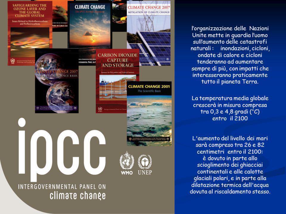 ENEA - educarsi al futuro l'organizzazione delle Nazioni Unite mette in guardia l'uomo sull'aumento delle catastrofi naturali : inondazioni, cicloni,