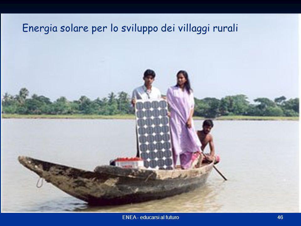46ENEA - educarsi al futuro Energia solare per lo sviluppo dei villaggi rurali