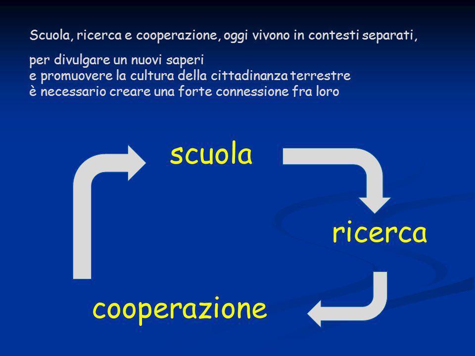 scuola ricerca cooperazione Scuola, ricerca e cooperazione, oggi vivono in contesti separati, per divulgare un nuovi saperi e promuovere la cultura de