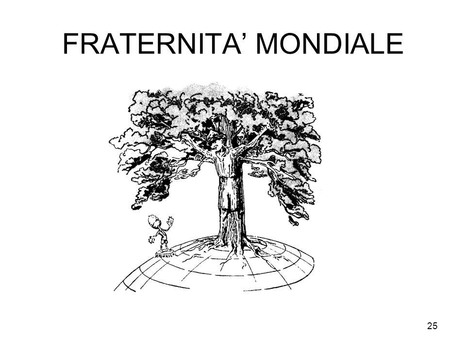 25 FRATERNITA' MONDIALE
