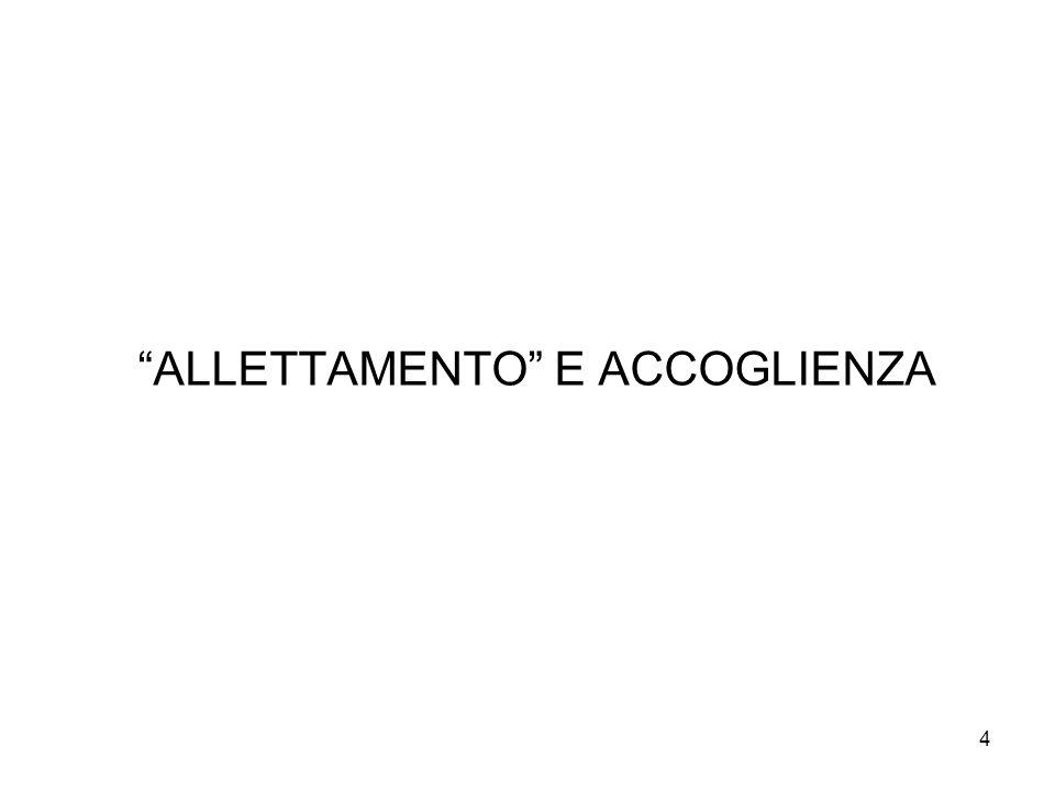 """4 """"ALLETTAMENTO"""" E ACCOGLIENZA"""