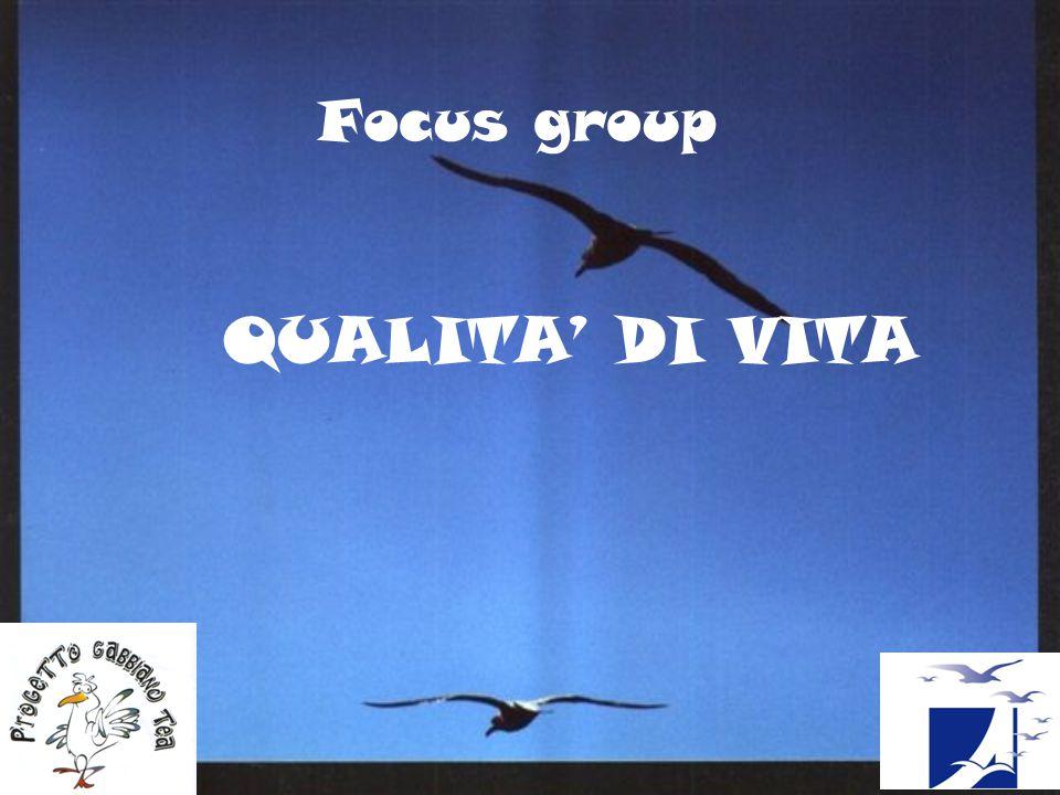 Focus group QUALITA' DI VITA