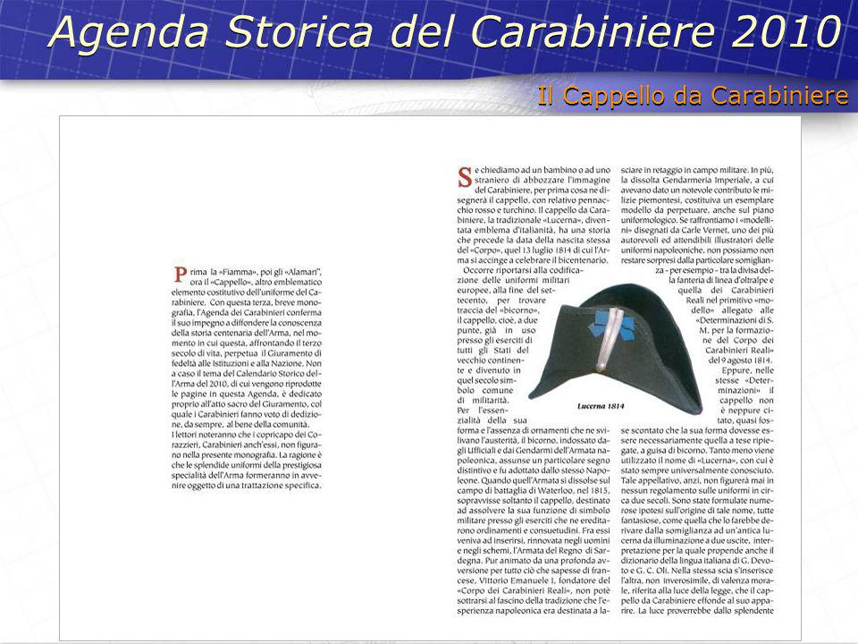 Agenda Storica del Carabiniere 2010