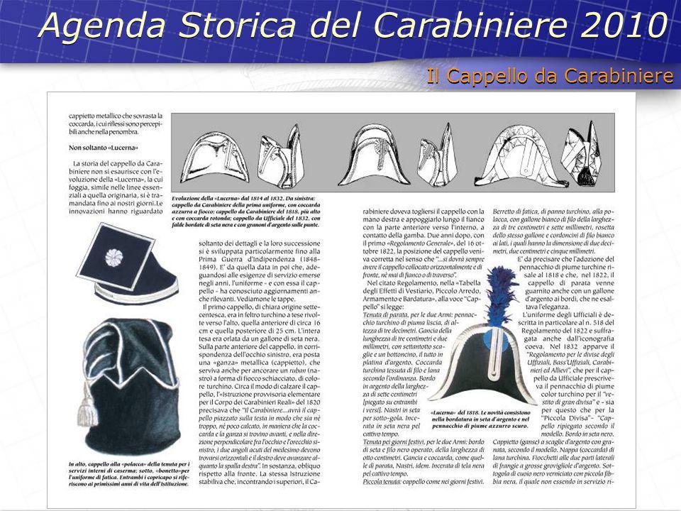 Il Cappello da Carabiniere Agenda Storica del Carabiniere 2010
