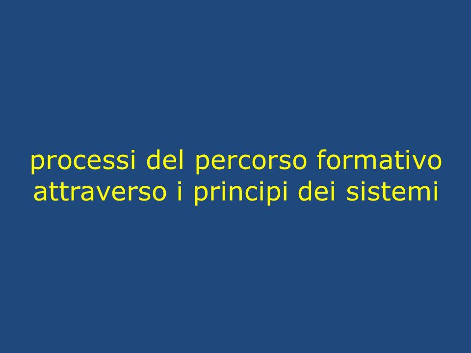 processi del percorso formativo attraverso i principi dei sistemi