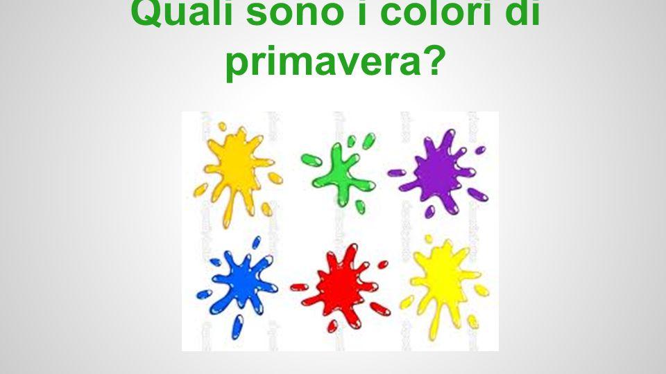 Quali sono i colori di primavera?