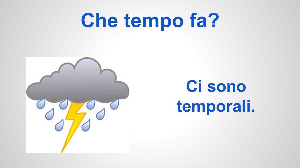 Che tempo fa? Ci sono temporali.
