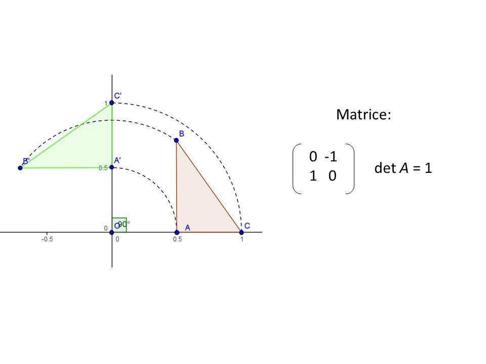 0 -1 1 0 det A = 1 Matrice: