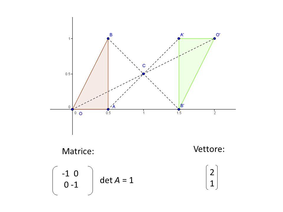 det A = 1 -1 0 0 -1 2121 Matrice: Vettore: