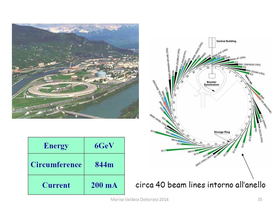 Marisa Valdata Dottorato 201435 circa 40 beam lines intorno all'anello