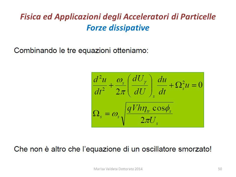 Fisica ed Applicazioni degli Acceleratori di Particelle Forze dissipative Marisa Valdata Dottorato 201450