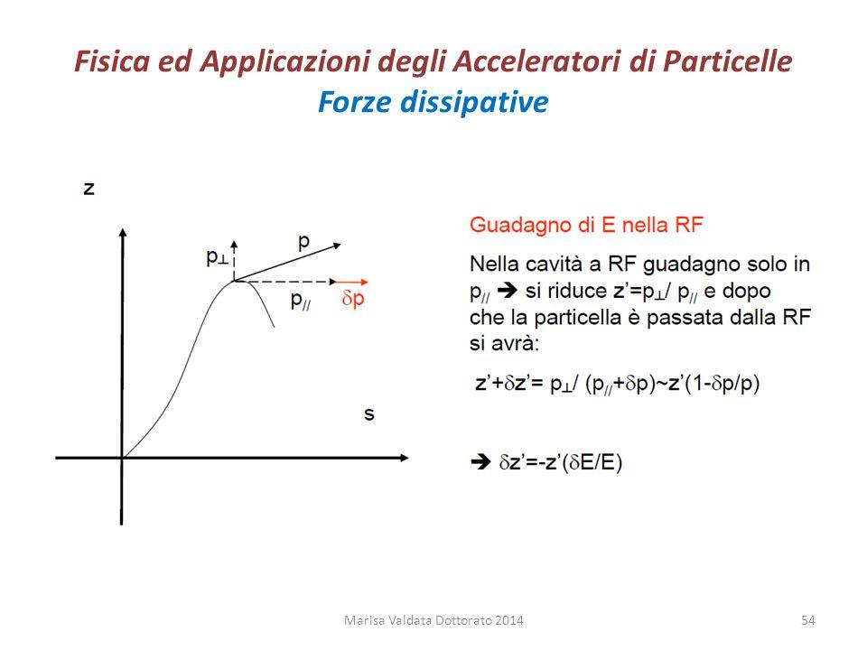 Fisica ed Applicazioni degli Acceleratori di Particelle Forze dissipative Marisa Valdata Dottorato 201454