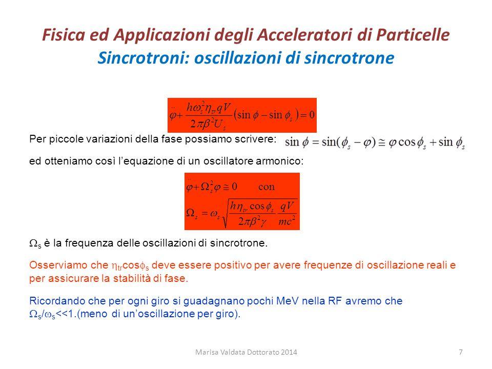 Fisica ed Applicazioni degli Acceleratori di Particelle Raffreddamento stocastico Marisa Valdata Dottorato 201458