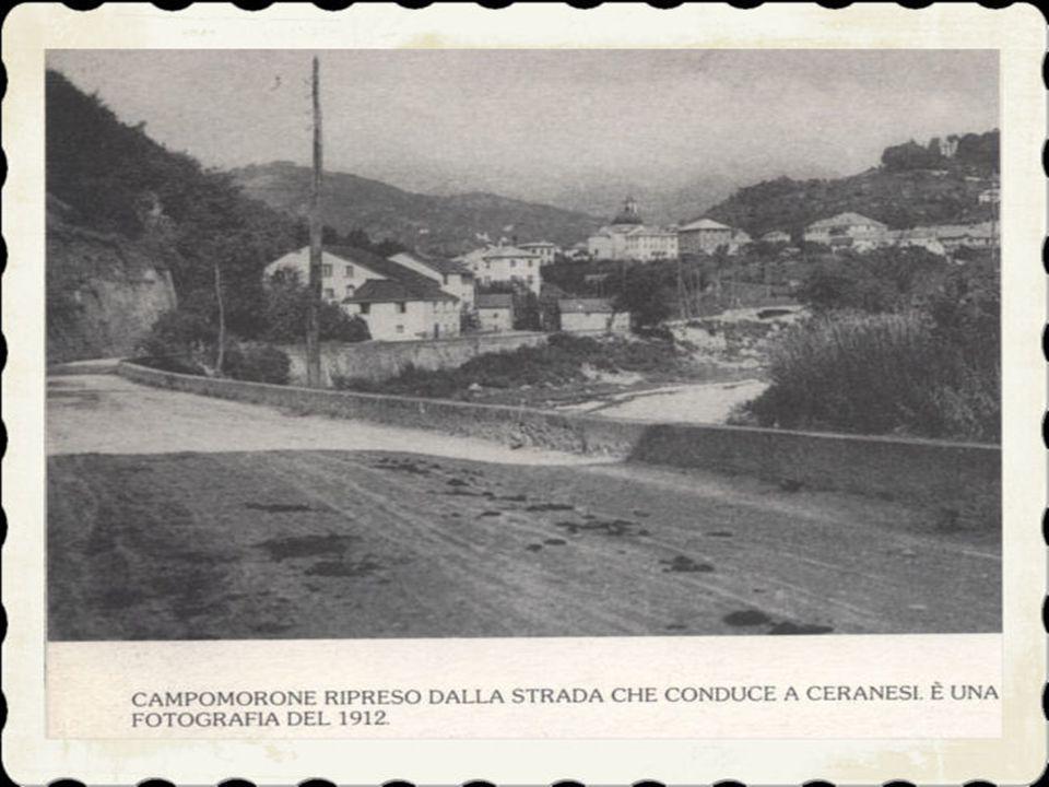 2)Col trascorrere del tempo però, la personalità dell'abitato di Campomorone si faceva sempre più notevole; all'epoca della costituzione delle comunit