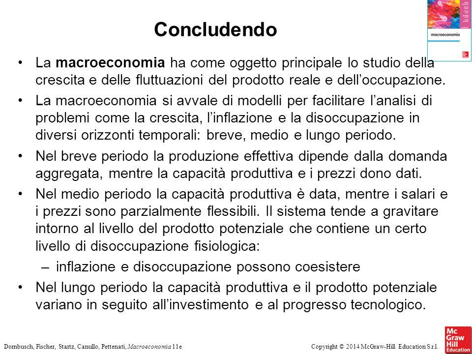 Copyright © 2014 McGraw-Hill Education S.r.l.Dornbusch, Fischer, Startz, Canullo, Pettenati, Macroeconomia 11e Concludendo La macroeconomia ha come og