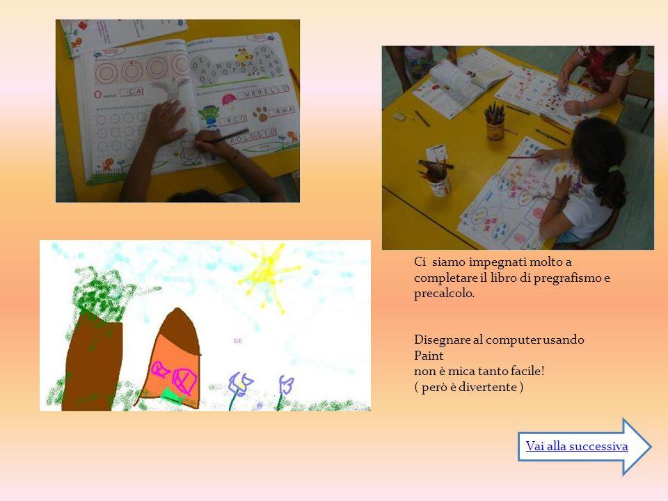 Ci siamo impegnati molto a completare il libro di pregrafismo e precalcolo.