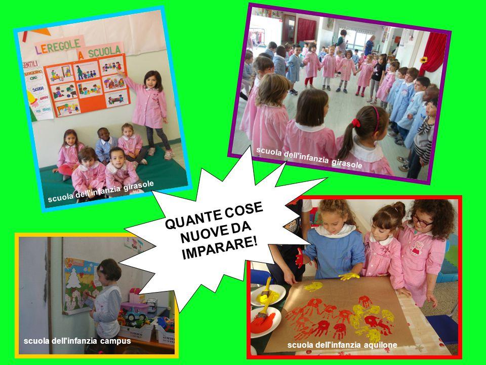 scuola dell'infanzia girasole scuola dell'infanzia campus scuola dell'infanzia girasole scuola dell'infanzia aquilone QUANTE COSE NUOVE DA IMPARARE!