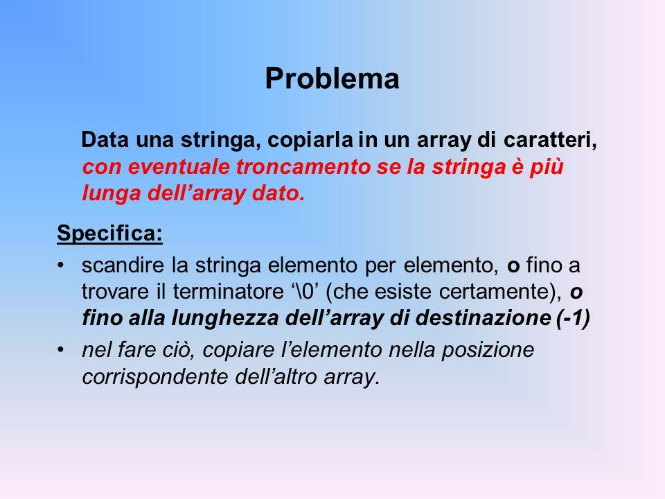 STRUTTURE PASSATE COME PARAMETRI Il nome della struttura rappresenta, come è naturale, la struttura nel suo complesso –niente scherzi come con agli array…!.
