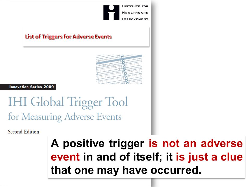 A positive trigger is not an adverse event in and of itself; it is just a clue that one may have occurred.