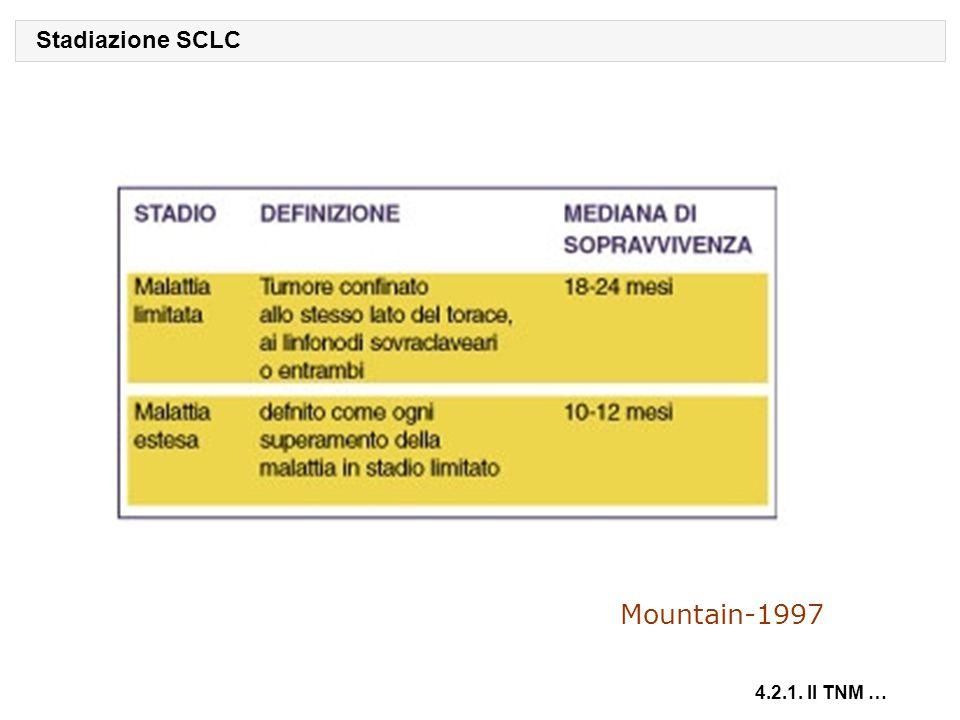 Stadiazione SCLC 4.2.1. Il TNM … Mountain-1997