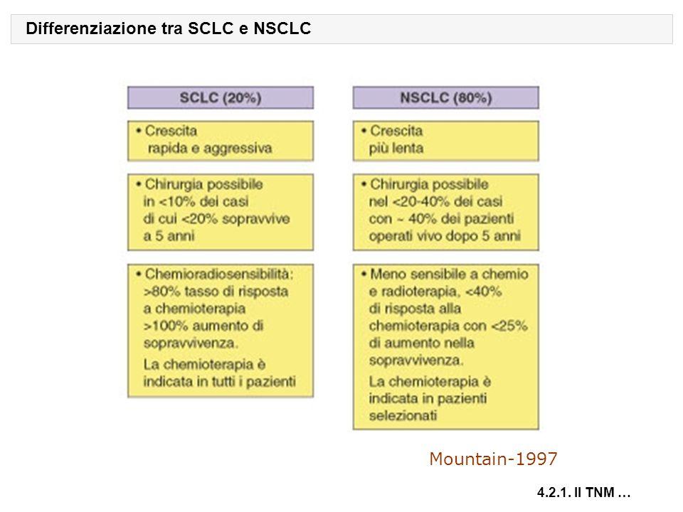 Differenziazione tra SCLC e NSCLC 4.2.1. Il TNM … Mountain-1997