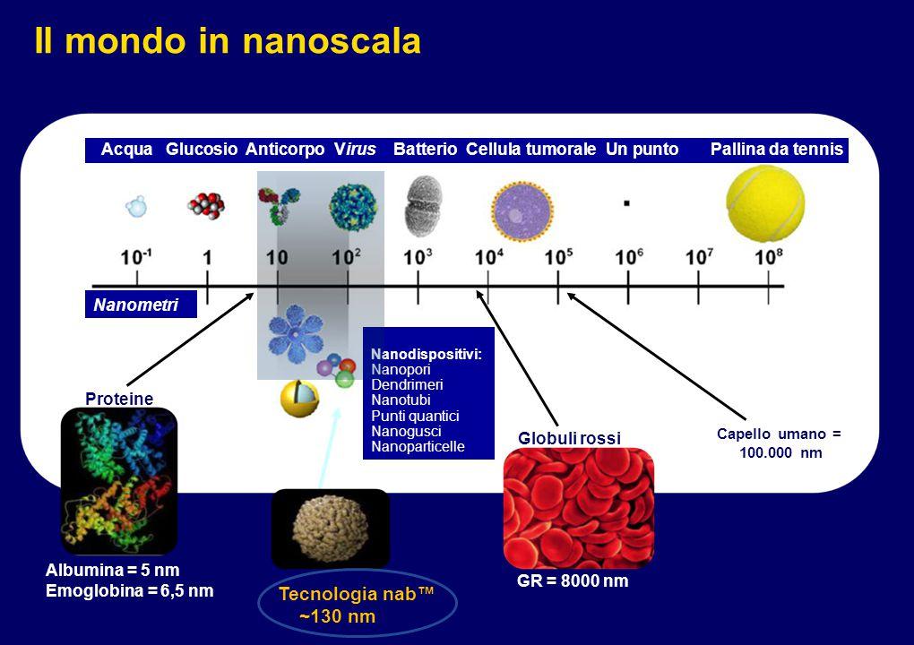 NAB-paclitaxel: limitata dimensione dell' area di distribuzione Desai N.