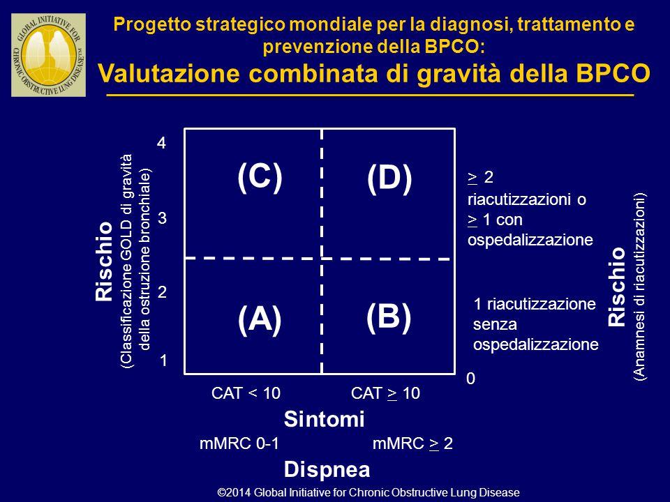Progetto strategico mondiale per la diagnosi, trattamento e prevenzione della BPCO: Valutazione combinata di gravità della BPCO Rischio (Classificazio