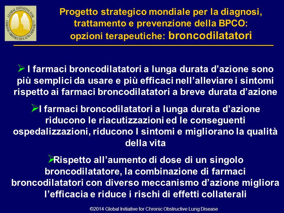  I farmaci broncodilatatori a lunga durata d'azione sono più semplici da usare e più efficaci nell'alleviare i sintomi rispetto ai farmaci broncodila