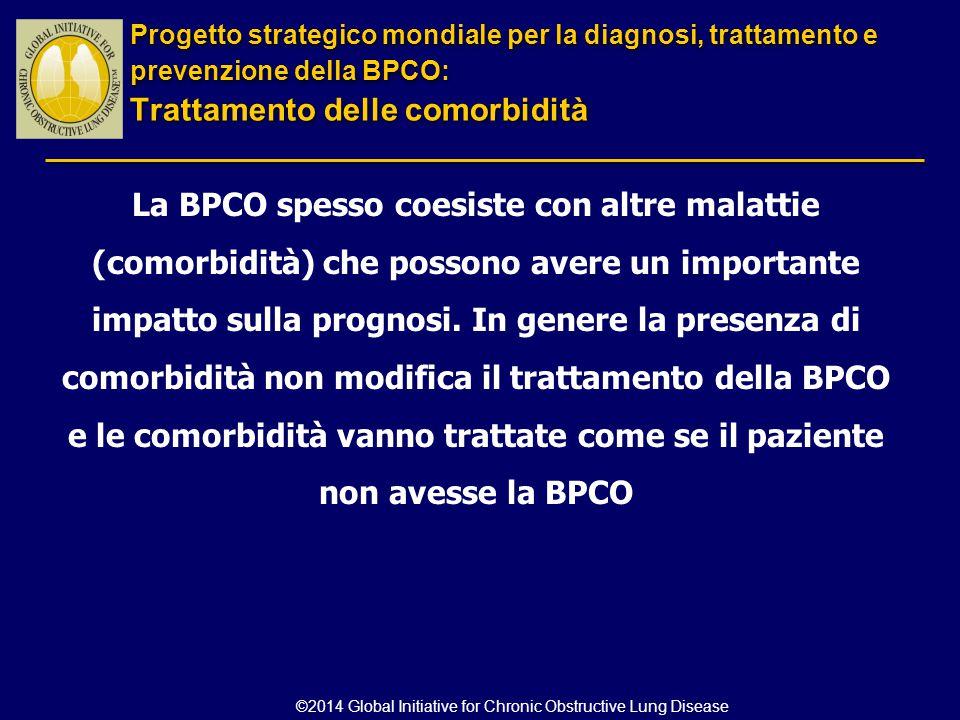 La BPCO spesso coesiste con altre malattie (comorbidità) che possono avere un importante impatto sulla prognosi. In genere la presenza di comorbidità
