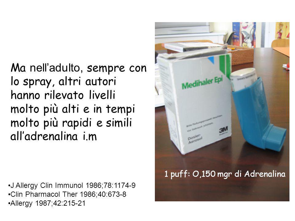 200 100 50 206 129 5 116 19 86 100 5 in ospedalea domicilio Adrenalina aerosol e i.m.