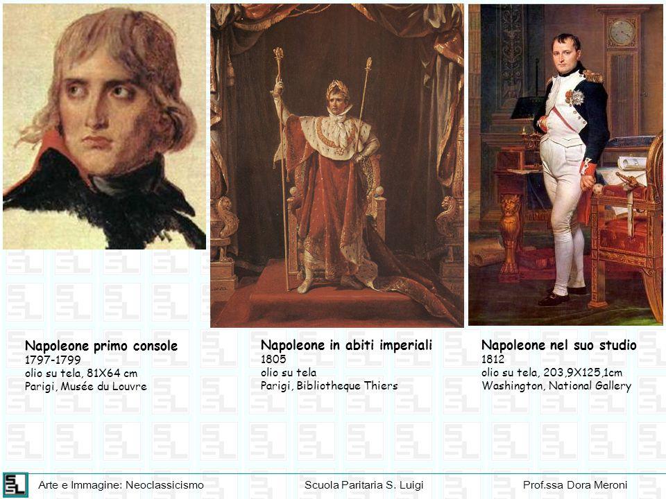 Arte e Immagine: NeoclassicismoScuola Paritaria S. LuigiProf.ssa Dora Meroni Napoleone nel suo studio 1812 olio su tela, 203,9X125,1cm Washington, Nat