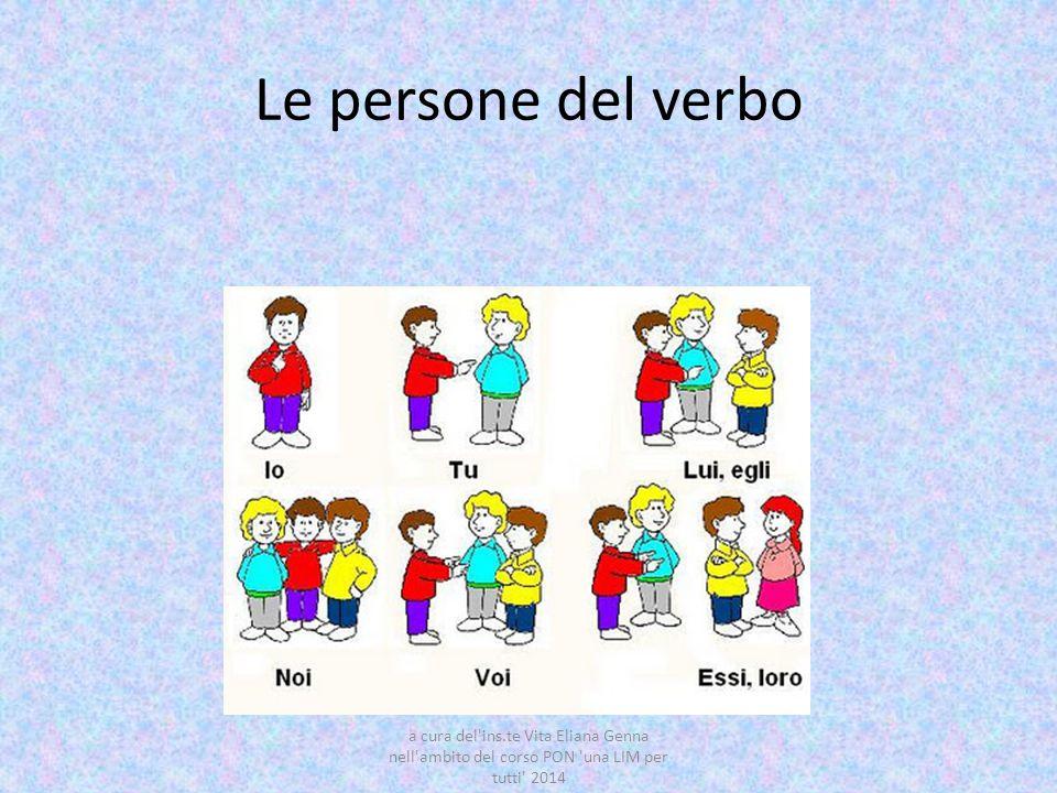 Molto Le persone dei verbi | imparo XC11