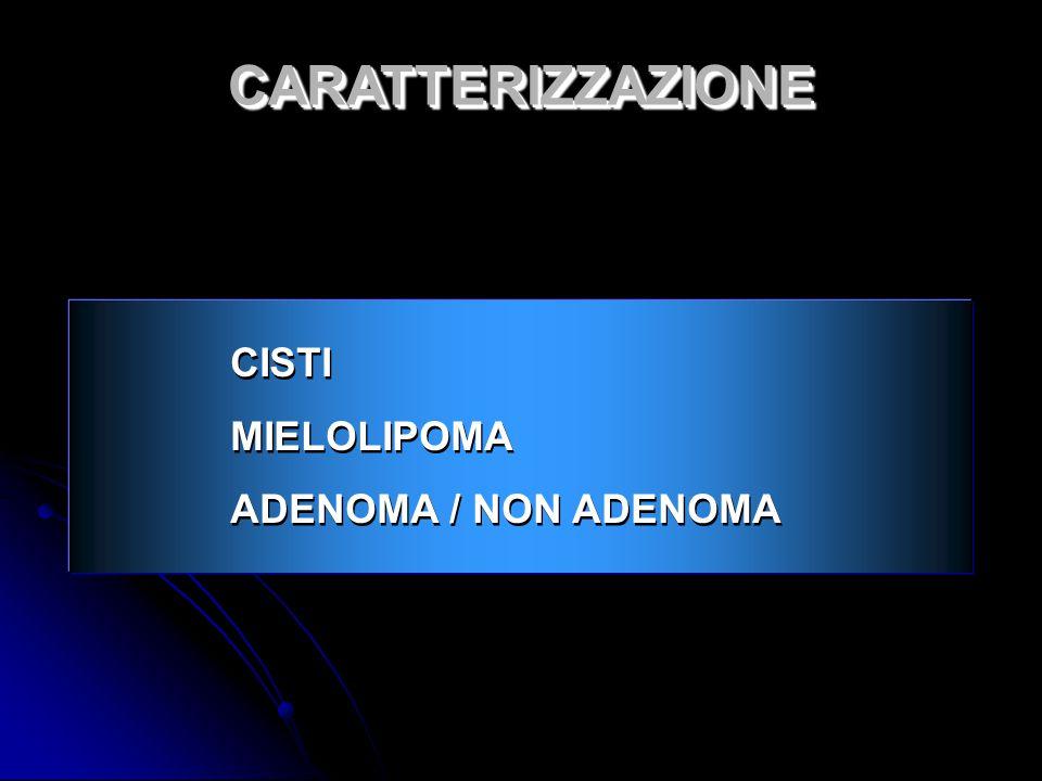 CISTI MIELOLIPOMA ADENOMA / NON ADENOMA CISTI MIELOLIPOMA ADENOMA / NON ADENOMA CARATTERIZZAZIONECARATTERIZZAZIONE