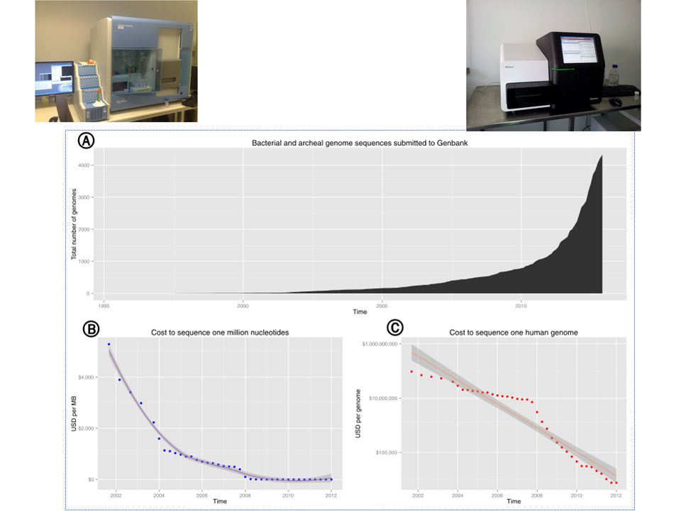 Next Generation Sequencing Applicazioni: Applicazioni: Sequenziamento de novo di genomi Sequenziamento de novo di genomi Risequenziamento di genomi per identificazione di varianti Risequenziamento di genomi per identificazione di varianti Metagenomica Metagenomica Sequenziamento e quantificazione di trascrittomi Sequenziamento e quantificazione di trascrittomi Sequenziamento di campioni di DNA/RNA (estratti secondo diversi criteri) Sequenziamento di campioni di DNA/RNA (estratti secondo diversi criteri)