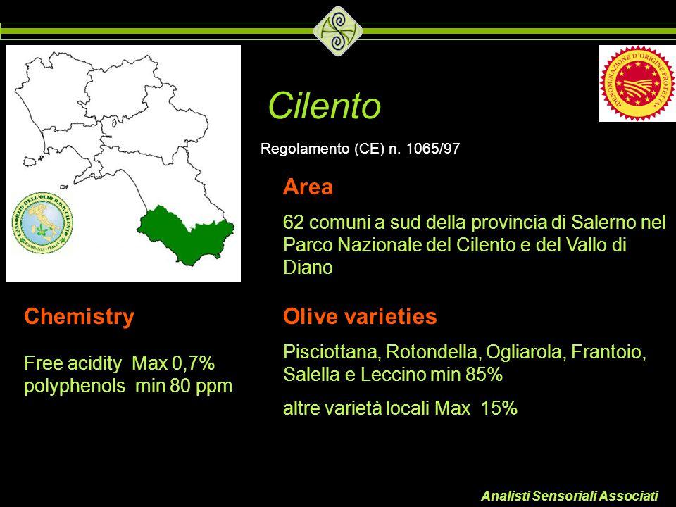 Analisti Sensoriali Associati Cilento Area 62 comuni a sud della provincia di Salerno nel Parco Nazionale del Cilento e del Vallo di Diano Olive varie