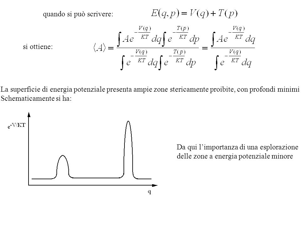 It is then possible to calculate the forces between the atoms by taking the derivative of the potential V(r) given above and leads to the following equation Integrazione numerica delle equazioni del moto