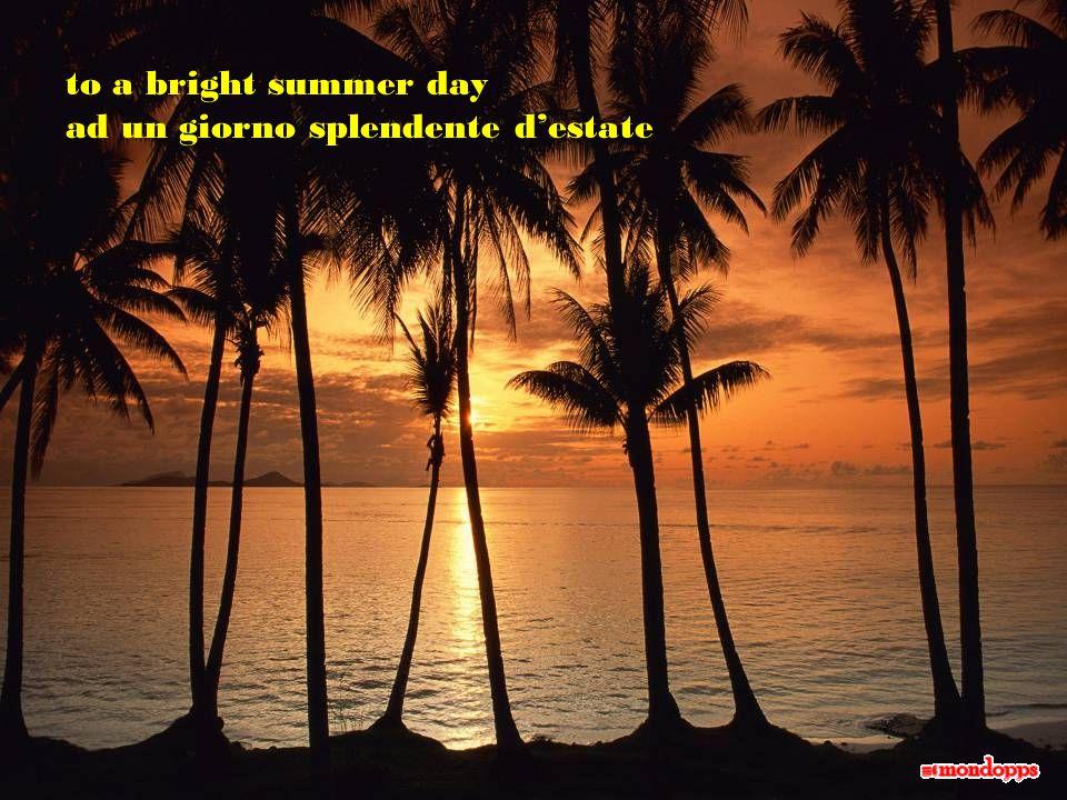to a bright summer day ad un giorno splendente d'estate