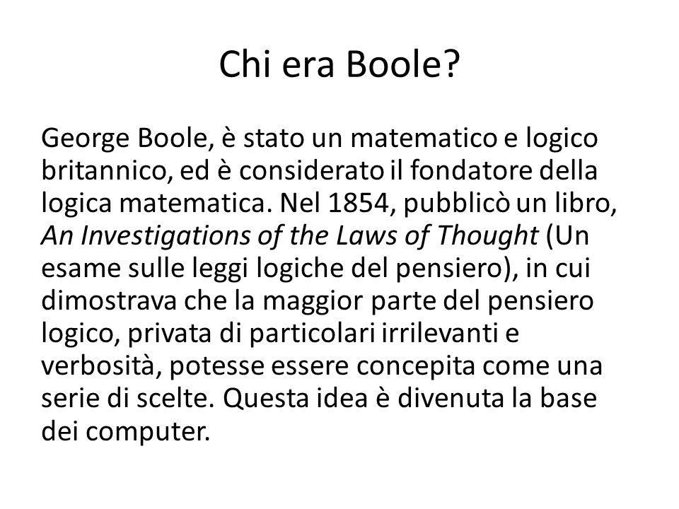 Chi era Boole.