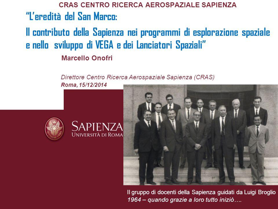 L'eredità del Progetto San Marco Negli anni 80' si avvia il grande salto di maturità dell'Italia Spaziale.