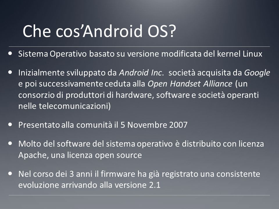 Android è Linux.