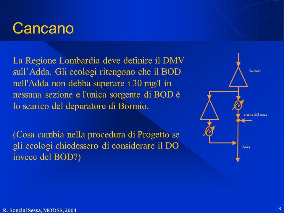 R.Soncini Sessa, MODSS, 2004 3 Cancano La Regione Lombardia deve definire il DMV sull'Adda.