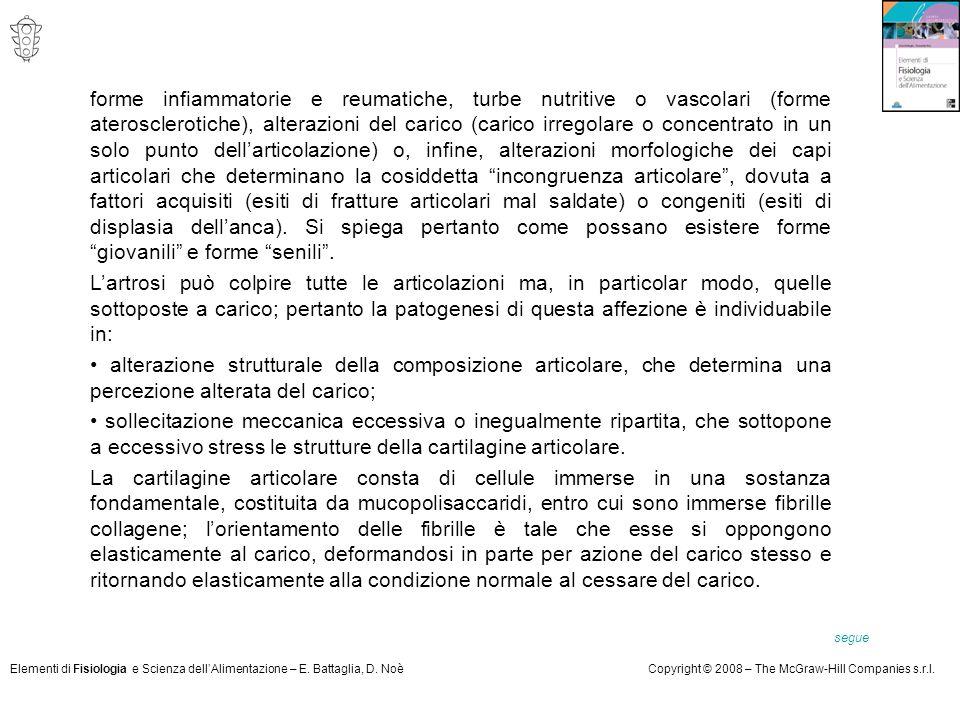 Elementi di Fisiologia e Scienza dell'Alimentazione – E. Battaglia, D. NoèCopyright © 2008 – The McGraw-Hill Companies s.r.l. forme infiammatorie e re