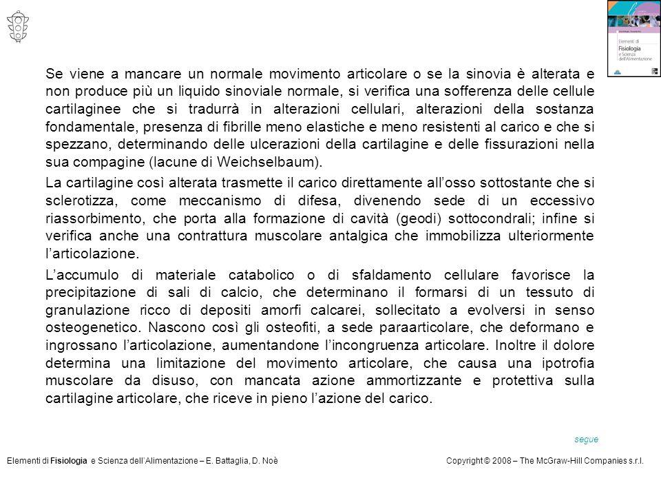 Elementi di Fisiologia e Scienza dell'Alimentazione – E. Battaglia, D. NoèCopyright © 2008 – The McGraw-Hill Companies s.r.l. Se viene a mancare un no