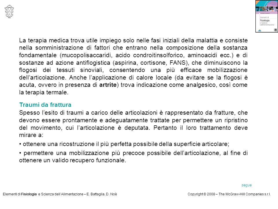 Elementi di Fisiologia e Scienza dell'Alimentazione – E. Battaglia, D. NoèCopyright © 2008 – The McGraw-Hill Companies s.r.l. La terapia medica trova