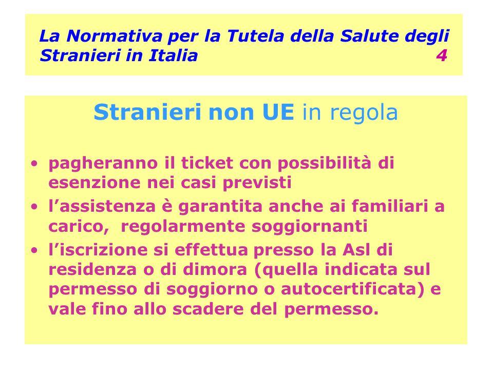 La Normativa per la Tutela della Salute degli Stranieri in Italia 4 Stranieri non UE in regola pagheranno il ticket con possibilità di esenzione nei c